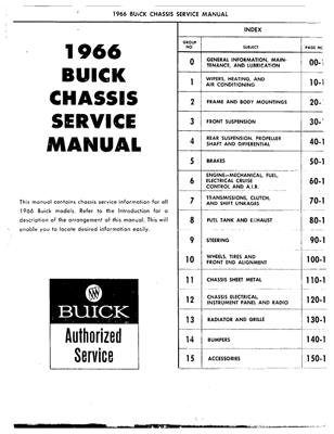 Shop Manual 1966 Buick