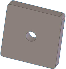 "Body Mount 3/8"" Thick 2"" Square"