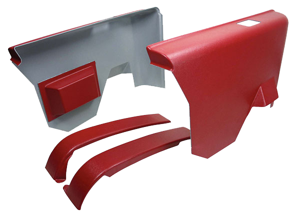 Arm Rest Panel 1970-72 Buick Rear Red