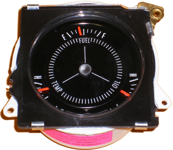 Rally Pack Gauges 1971-72 Buick Convex