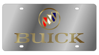 License Plate - Buick Logo - Stainless G