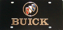 License Plate - Buick Gold