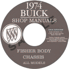 Shop Manual 1974 Buick On CDROM