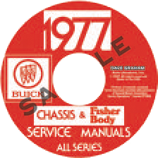 Shop Manual 1977 Buick On CDROM